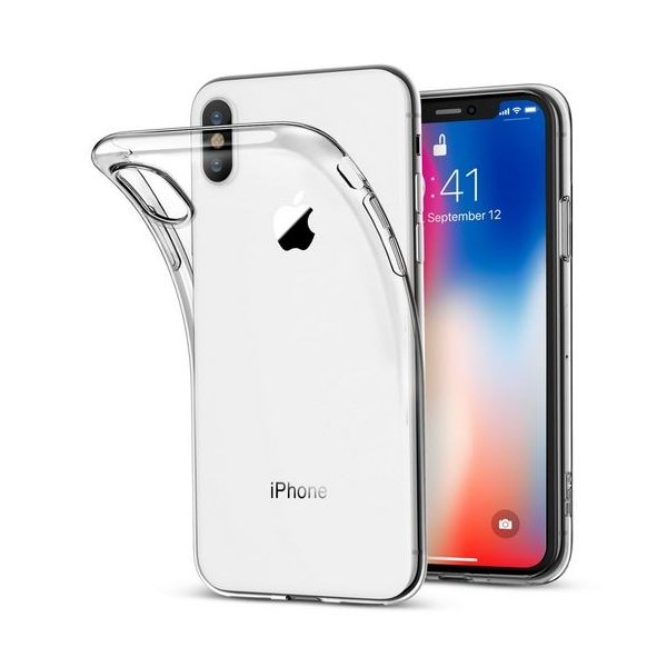 coque iphone x transparent paillette