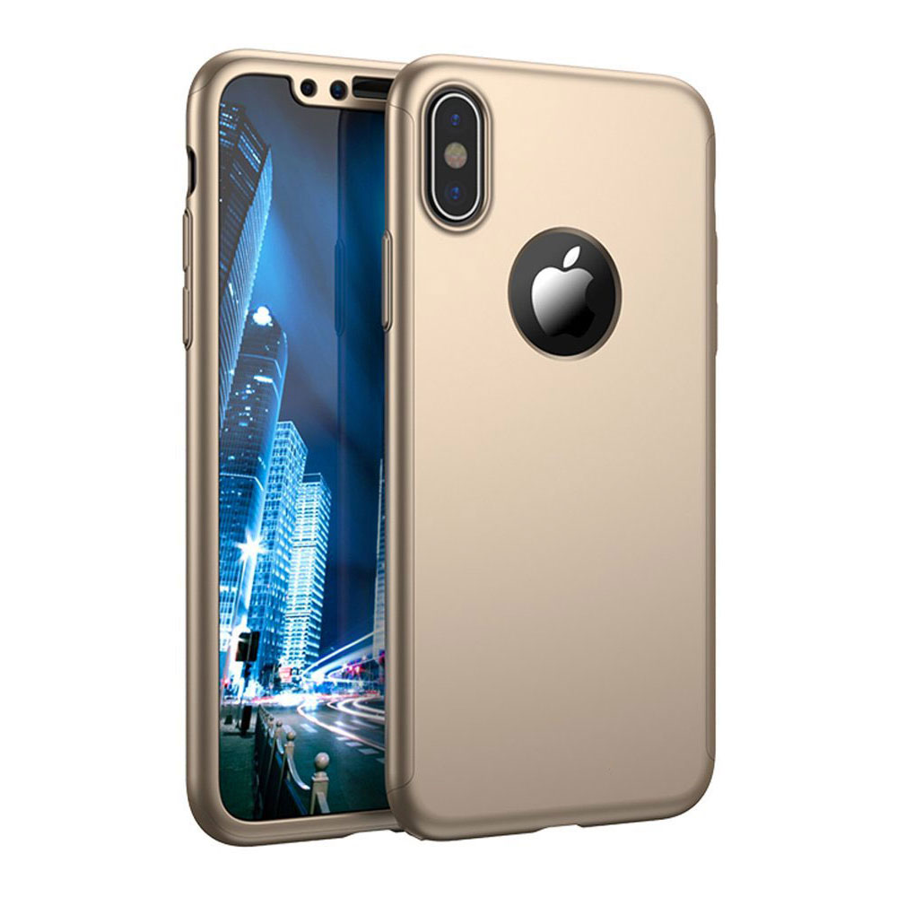 coque 360 iphone x gold