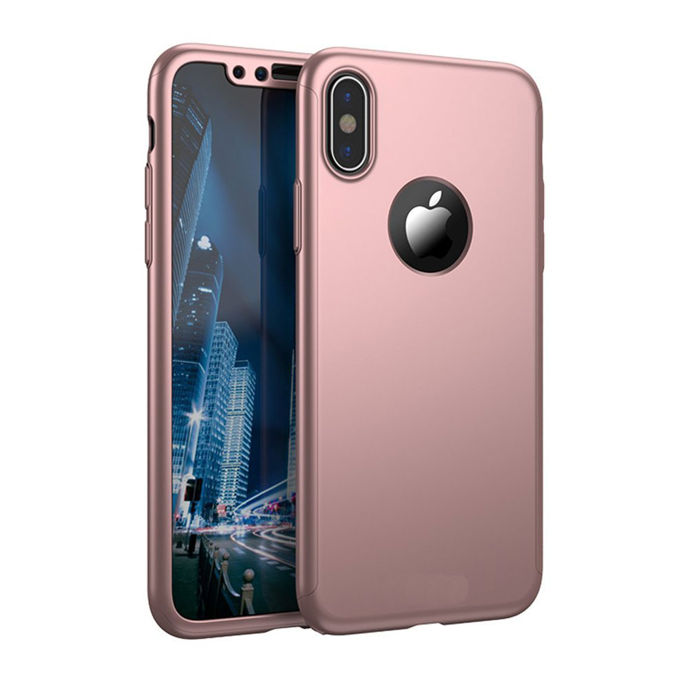 coque 360 int grale pour iphone x xs avec film en verre. Black Bedroom Furniture Sets. Home Design Ideas