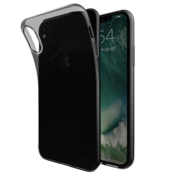 Coque en silicone iPhone X noir transparent 2