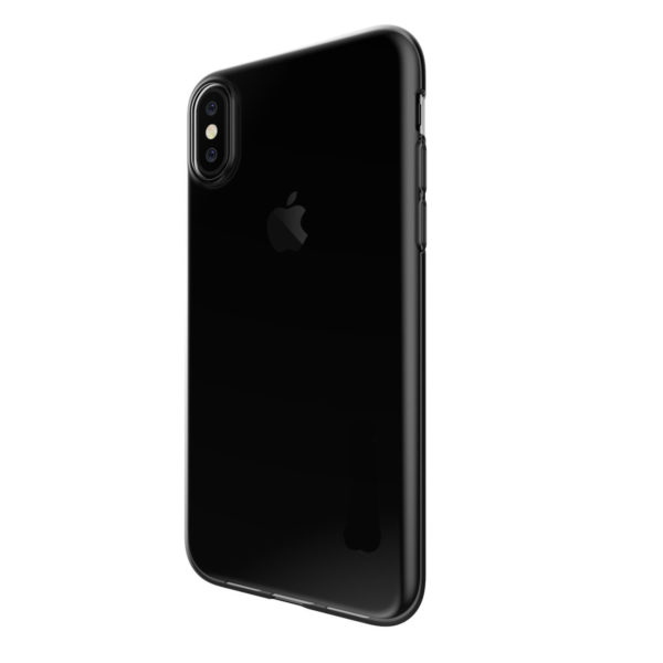 Coque en silicone iPhone X noir transparent