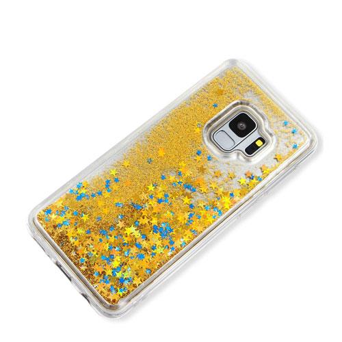 coque-samsung-s9-liquide-strass-gold-2