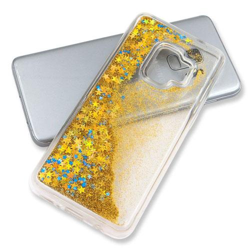 coque-samsung-s9-liquide-strass-gold-3