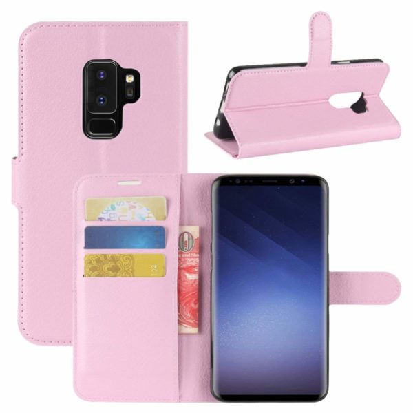 housse portefeuille samsung s9 rose