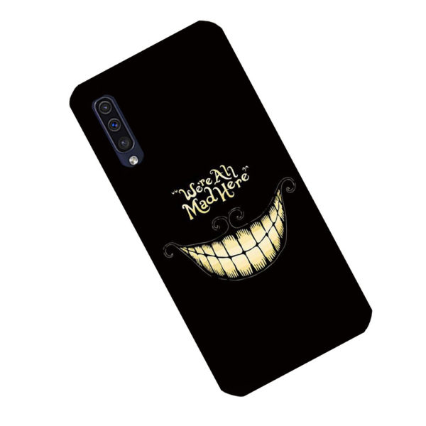 coque-samsung-A50-were-all-mad-here2